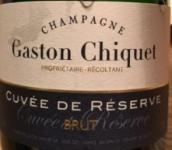 盖斯顿奇克特酿珍藏一级园干型香槟(Champagne Gaston Chiquet Cuvee de Reserve Premier Cru Brut,...)