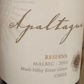 阿帕塔瓜珍藏马尔贝克干红葡萄酒(Apaltagua Reserva Malbec,Maipo Valley,Chile)
