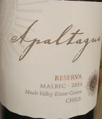 阿帕塔瓜珍藏马尔贝克干红葡萄酒(Apaltagua Reserva Malbec, Maipo Valley, Chile)