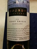珀蒂里程碑系列灰皮诺干白葡萄酒(Boordy Vineyards Landmark Series Pinot Grigio,Maryland,USA)