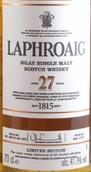拉弗格27年苏格兰单一麦芽威士忌(Laphroaig Aged 27 Years Single Malt Scotch Whisky,Islay,UK)