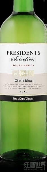 海角总统精选白诗南干白葡萄酒(First Cape President's Selection Chenin Blanc,South Africa)