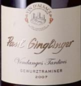 保罗琴格林琼瑶浆晚收半甜白葡萄酒(Domaine Paul Ginglinger Gewurztraminer Vendanges Tardives,...)