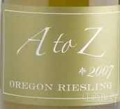 A-Z雷司令干白葡萄酒(A to Z Riesling, Oregon, USA)