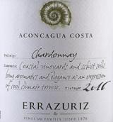 伊拉苏阿空加瓜海岸霞多丽干白葡萄酒(Errazuriz Aconcagua Costa Chardonnay,Aconcagua Valley,Chile)