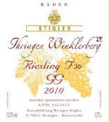 施蒂格勒依瑞恩温克乐堡特级葡萄园36号桶雷司令迟摘干白葡萄酒(Weingut Stigler Ihringen Winklerberg Riesling trocken F36 GG, Baden, Germany)