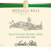 桑塔丽塔皇家勋章长相思干白葡萄酒(Santa Rita Medalla Real Sauvignon Blanc,Leyda Valley,Chile)