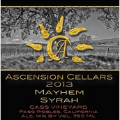 上升酒庄魅黑西拉干红葡萄酒(Ascension Cellars Mayhem Syrah,Paso Robles.USA)