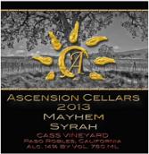 上升酒庄魅黑西拉干红葡萄酒(Ascension Cellars Mayhem Syrah, Paso Robles. USA)