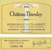 爵蕾酒庄干红葡萄酒(Chateau Thieuley Rouge,Bordeaux,France)