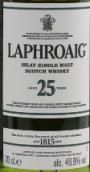 拉弗格25年苏格兰单一麦芽威士忌(Laphroaig Aged 25 Years Single Malt Scotch Whisky,Islay,UK)