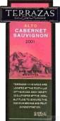 安第斯台阶赤霞珠阿尔托干红葡萄酒(Terrazas de los Andes Alto Cabernet Sauvignon, Mendoza, Argentina)