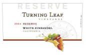 叶落珍藏白仙粉黛桃红葡萄酒(Turning Leaf Vineyards Reserve Zinfandel White,California,...)