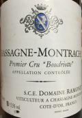 拉梦内酒庄布德瑞(夏山-蒙哈榭一级园)白葡萄酒(Domaine Ramonet La Boudriotte, Chassagne-Montrachet Premier Cru, France)