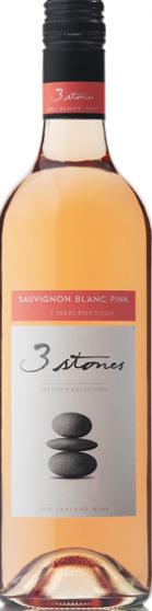 三石长相思桃红葡萄酒(3 Stones Sauvignon Blanc Pink,Marlborough,New Zealand)