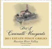 卡里利那酒庄灰皮诺干白葡萄酒(D&L Carinalli Vineyards Estate Pinot Grigio,Russian River ...)