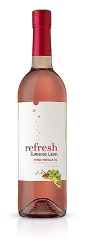 叶落莫斯卡托桃红葡萄酒(Turning Leaf Vineyards Pink Moscato,California,USA)
