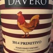 达唯洛酒庄彭佐家族园普里米蒂沃干白葡萄酒(DaVero Ponzo Family Vineyard Primitivo,California,USA)