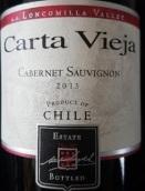 卡塔维嘉赤霞珠干红葡萄酒(Carta Vieja Cabernet Sauvignon, Maule Valley, Chile)