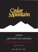 雪松山迟装瓶年份丹魄甜红葡萄酒(Cedar Mountain Winery Late Bottled Vintage Tempranillo,...)
