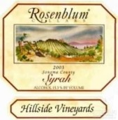 罗森布拉姆山麓园西拉干红葡萄酒(Rosenblum Cellars Hillside Vineyard Syrah,Sonoma County,USA)