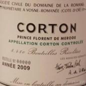 罗曼尼·康帝科尔登特级园干红葡萄酒(Domaine de la Romanee-Conti Corton Grand Cru,Cote de Beaune,...)