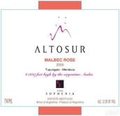 索菲亚阿图索马尔贝克桃红葡萄酒(Finca Sophenia Altosur Malbec Rose, Tupungato, Argentina)