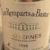 巴斯特酒庄副牌甜白葡萄酒(Les Remparts de Bastor,Sauternes,France)