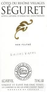 埃里克·特谢尔酒庄老藤干红葡萄酒(Eric Texier Vieilles Vignes,Cotes du Rhone Villages Seguret,...)