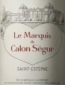 凯隆世家侯爵红葡萄酒(Le Marquis de Calon Segur,Saint-Estephe,France)