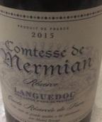 迈米安伯爵夫人酒庄珍藏干红葡萄酒(Comtesse De Mermian Reserve, Languedoc, France)