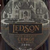兰德森西佩奇混酿干红葡萄酒(Ledson Winery&Vineyards Cepage Red Blends,Lake County,USA)