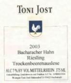Toni Jost Bacharacher Hahn Riesling Trockenbeerenauslese,...