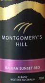 蒙哥马利山卡尔根夕阳红赤霞珠-梅洛混酿桃红葡萄酒(Montgomery's Hill Kalgan Sunset Red Cabernet Sauvignon-...)