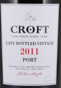 高乐福晚装瓶年份波特酒(Croft Late Bottled Vintage Port, Douro, Portugal)