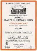 上伯纳登干红葡萄酒(Chateau Haut-Bernadon,Cotes de Bordeaux,France)