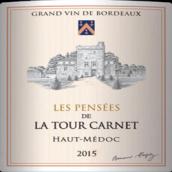 拉图嘉利城堡沉思干红葡萄酒(Les Pensees De La Tour Carnet,Haut-Medoc,France)