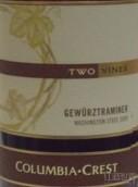 哥伦比亚山峰双藤琼瑶浆半干白葡萄酒(Columbia Crest Two Vines Gewurztraminer, Washington, USA)