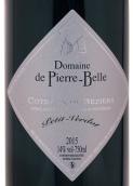 皮埃尔·贝勒味而多干红葡萄酒(Domaine de Pierre Belle Petit Verdot, Lieuran Les Beziers, France)