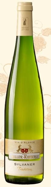 米勒-库伯传统系列西万尼干白葡萄酒(Domaine Muller-Koeberle Tradition Sylvaner,Alsace,France)