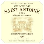 奥伯特圣安东尼酒庄珍藏干红葡萄酒(Aubert Vignobles Chateau Saint-Antoine Reserve du Chateau,...)