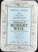 罗伯特威尔雷司令迟摘半干白葡萄酒(Weingut Robert Weil Riesling Spatlese Halbtrocken, Rheingau, Germany)