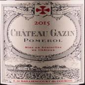 嘉仙酒庄红葡萄酒(Chateau Gazin,Pomerol,France)