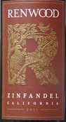红杉塞拉系列仙粉黛干红葡萄酒(Renwood Sierra Series Zinfandel,Sierra Foothills,USA)