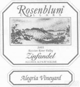 罗森布拉姆阿里西亚园仙粉黛干红葡萄酒(Rosenblum Cellars Alegria Vineyard Zinfandel,Russian River ...)