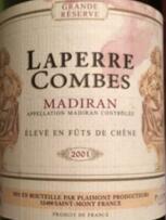拉普康贝特级珍藏干红葡萄酒(Laperre Combes Grande Reserve,Madiran,France)