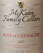 麦克卡恩歌海娜桃红葡萄酒(McKahn Family Cellars Rose of Grenache,Shenandoah Valley,USA)