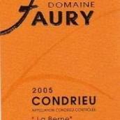 Domaine Philippe Faury Condrieu La Berne,Rhone,France