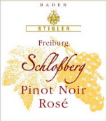 施蒂格勒城堡山黑皮诺迟摘干桃红葡萄酒(Weingut Stigler Freiburg Schlossberg Pinot Noir Rose Spatlese trocken, Baden, Germany)