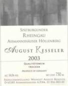 August Kesseler Assmannshauser Hollenberg Spatburgunder Qba,...